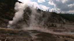 Geyser And Thermal Display stock footage