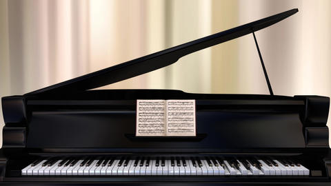 Self-playing Piano _ Part2 stock footage