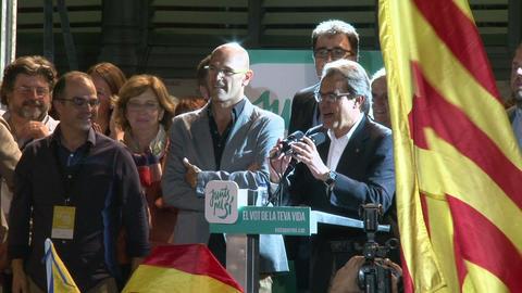 Artur Mas Celebrating Victory in Catalonia Footage
