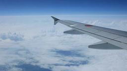 機内より見る雲海 Footage