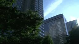 朝のビルと太陽 Footage