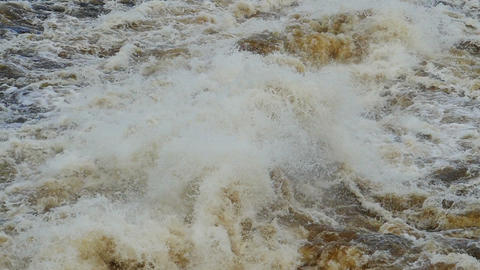 bursts and splashes of seething water, slow motion Footage