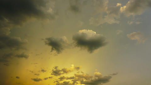 fantastic clouds at sunset, timelapse Footage