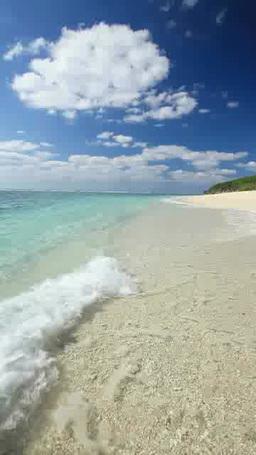 渚に打ち寄せる波 影片素材