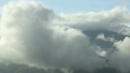 湧く雲と飯縄山方向の山並み Footage