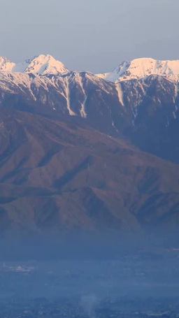 朝日に染まる穂高連峰と槍ヶ岳など北アルプス Footage