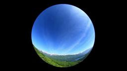 新緑の北アルプスと青木湖と流れる雲 Footage