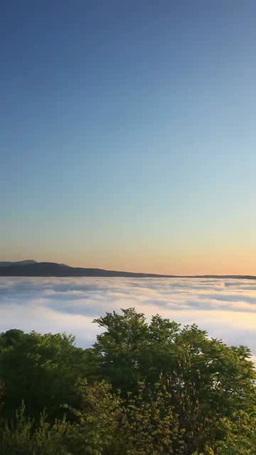 朝霧の雲海の十和田湖と八甲田山と朝日 Footage