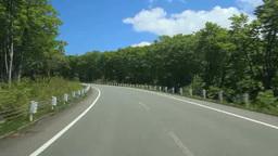 新緑のブナ林を走行,国道394号 Footage
