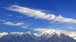 蓮華岳など北アルプスと流れる雲 Footage