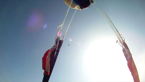 Parachute jump 2 Stock Video Footage