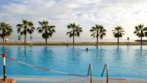 Pool in Emirates 2 Stock Video Footage