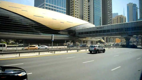 Road in Emirates Stock Video Footage