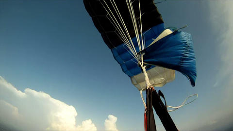 Parachute jump 7 Stock Video Footage