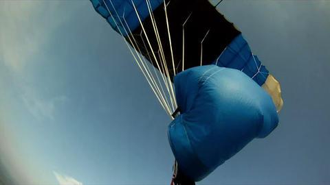 Parachute jump 7 Stock Video Footage