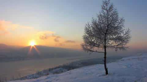 Winter landscape 5 Stock Video Footage