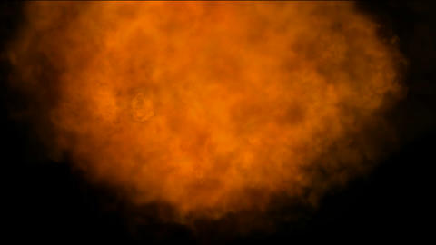 burning Fire and smoke in universe,military and war... Stock Video Footage