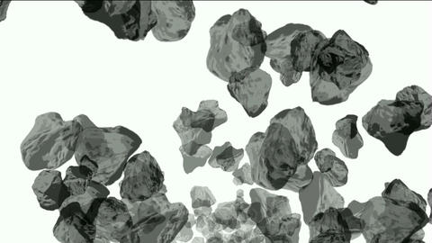Meteorite tumbling and 3d rolling stone in universe Stock Video Footage