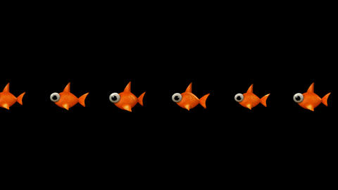 cartoon goldfish Stock Video Footage