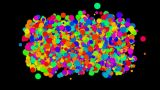 bubble and blister array background,dancing dots and particles,abstract colorful Animation