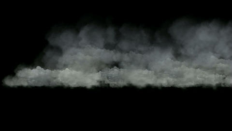 clouds in mid-air,flying smoke Animation