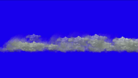 clouds in mid-air,flying smoke Stock Video Footage