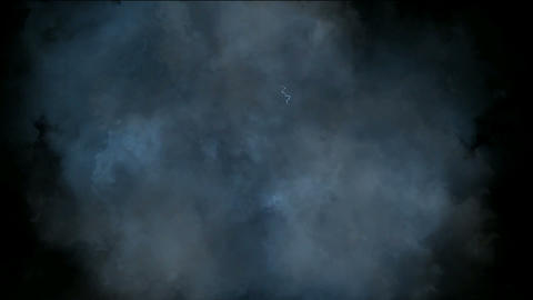 dazzling lightning & clouds in space Stock Video Footage