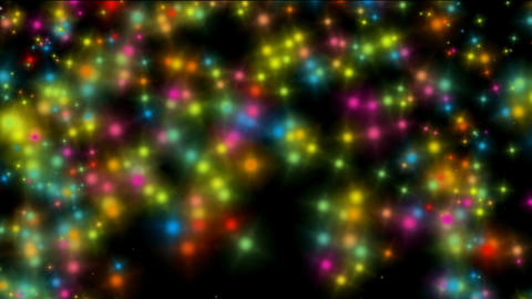 falling color particles & stars shaped as ring,wedding & holiday Animation