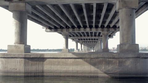 Under the bridge Stock Video Footage
