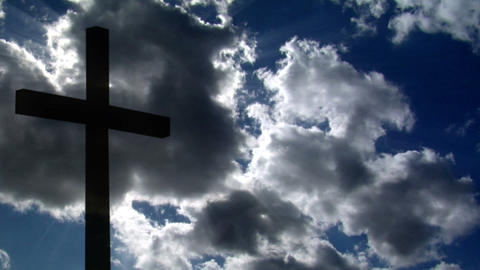 10697 cross clouds time lapse Stock Video Footage