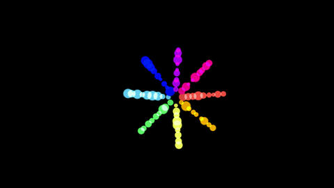 A bunch of color circle shaped disco neon light,christmas... Stock Video Footage