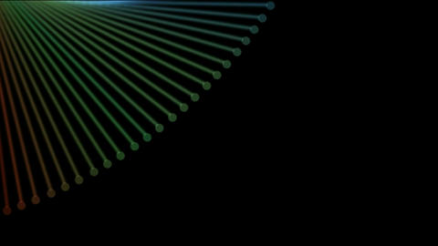 abstract fiber optic board,metal machine probe lines... Stock Video Footage
