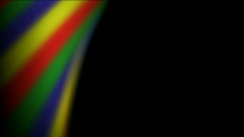 Abstract rainbow striped pattern in spiral and... Stock Video Footage