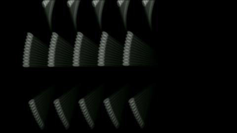 rotating metal gears loop,Mechanical engine windmill Stock Video Footage