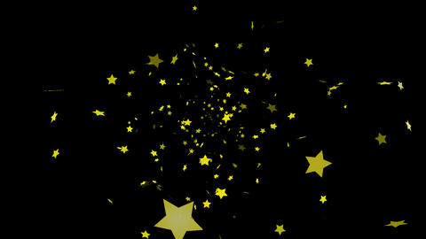 HD Looping Falling Stars Animation with Alpha channel Stock Video Footage