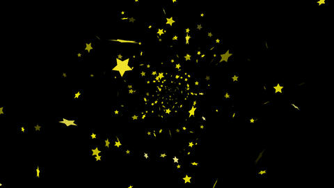 HD Looping Falling Stars Animation with Alpha channel Animation