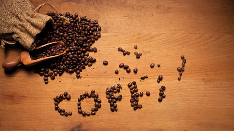 Coffee On Wooden Background Stock Video Footage