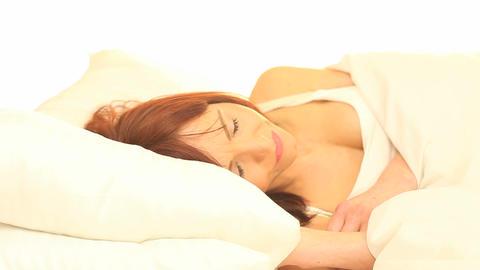 Nightmares In Bed Stock Video Footage