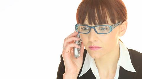 Phone Call Bad News Stock Video Footage