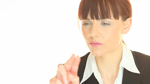 Portrait of redhead business woman Stock Video Footage