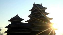 朝の国宝松本城 Footage