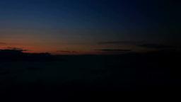 昇る朝日と流れる雲海と浅間山など山並み Footage