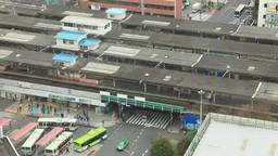 JR中野駅とJR中央線などの電車 Footage