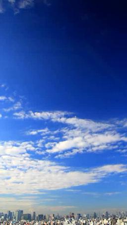 都心のビル群と流れる雲 Footage