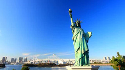 Rainbow Bridge and Statue of Liberty Footage