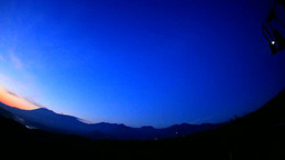 Love Chime, Mt Asama And The Dawn Of A Moon stock footage