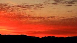 御岳などの山並みと夕焼け Footage