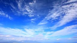四阿山から望む赤城山方向の山並みと流れる雲 Footage