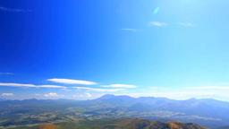 四阿山から望む浅間山と紅葉の樹林と太陽の光芒 Footage