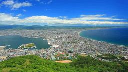 函館山から望む函館市街と函館山ロープウェイ Footage
